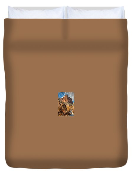 Zion National Park Duvet Cover by Utah Images