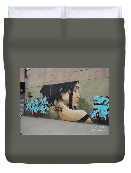 160 Dyckman Street  Duvet Cover by Cole Thompson