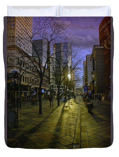 16th Street Mall Duvet Cover