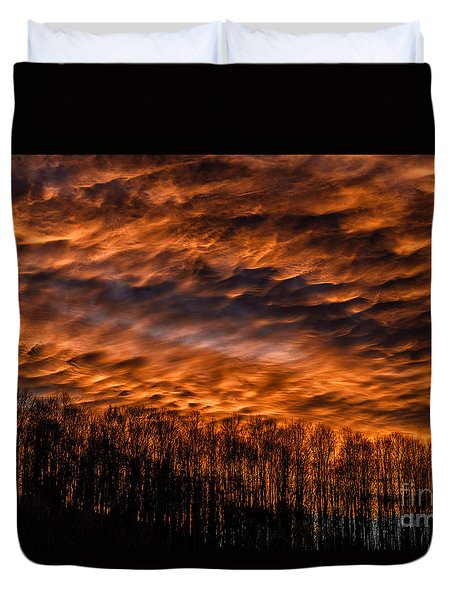 Appalachian Afterglow Duvet Cover by Thomas R Fletcher