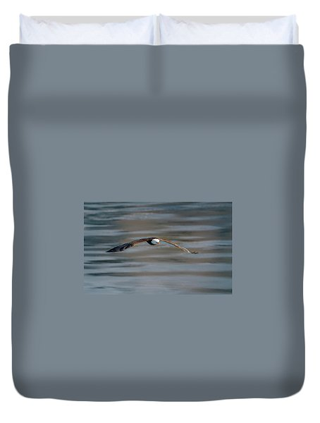 Duvet Cover featuring the photograph Bald Eagle by Peter Lakomy