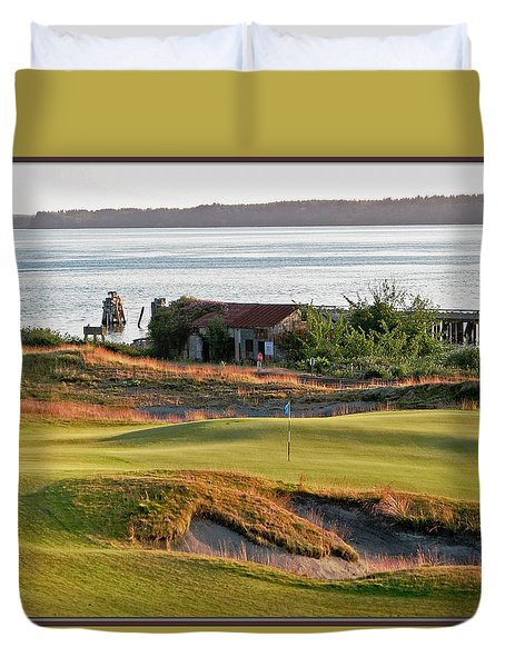 Duvet Cover featuring the photograph 17 - Chambers Bay Golf Course by Chris Anderson