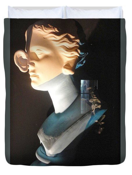 Duvet Cover featuring the sculpture Salvador Dali Museum by Gregory Dyer