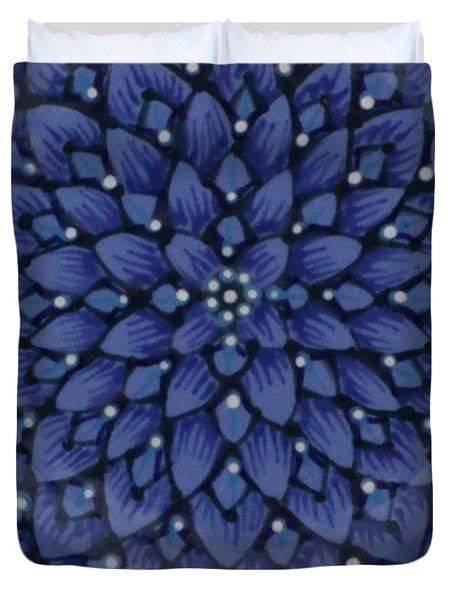 Duvet Cover featuring the ceramic art #1701 by Kym Nicolas