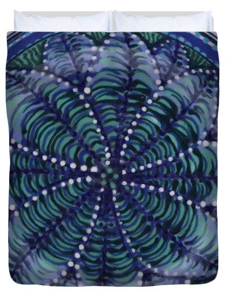 Duvet Cover featuring the ceramic art #1702 by Kym Nicolas