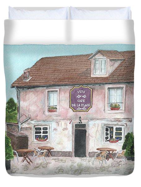 1775 Cafe De La Place Duvet Cover