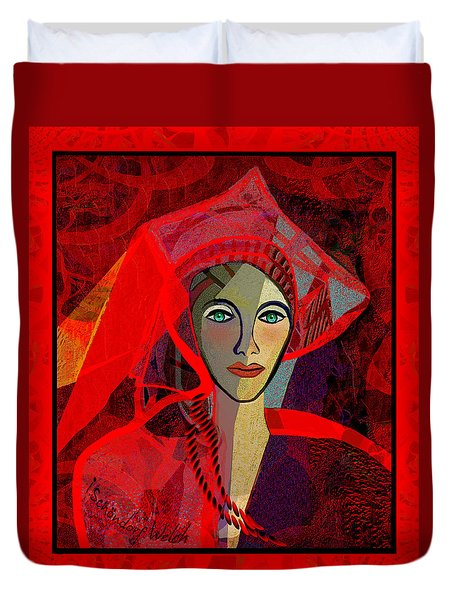 1791 - The Lady In Red 2017 Duvet Cover