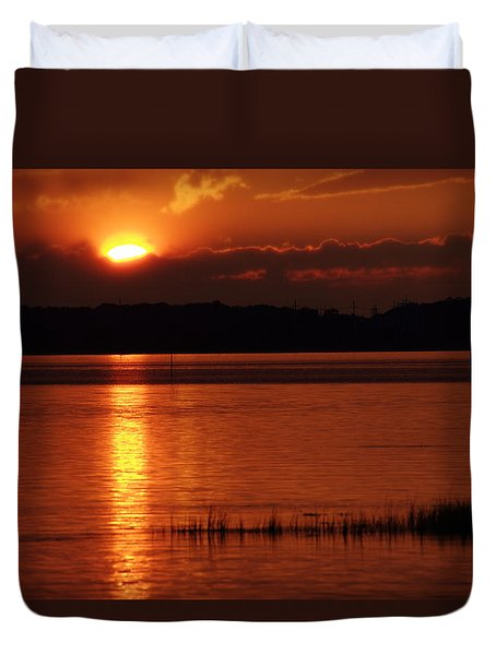 17th Street Sunset Duvet Cover by Greg Graham