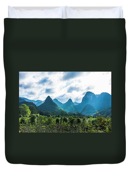 Countryside Scenery In Autumn Duvet Cover