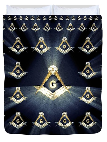 Freemason, Masonic, Symbols Duvet Cover