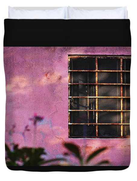 Duvet Cover featuring the photograph 18 Rectangles  by Prakash Ghai