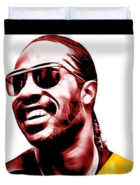 Stevie Wonder Collection Duvet Cover by Marvin Blaine