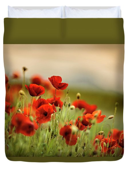 Summer Poppy Meadow Duvet Cover