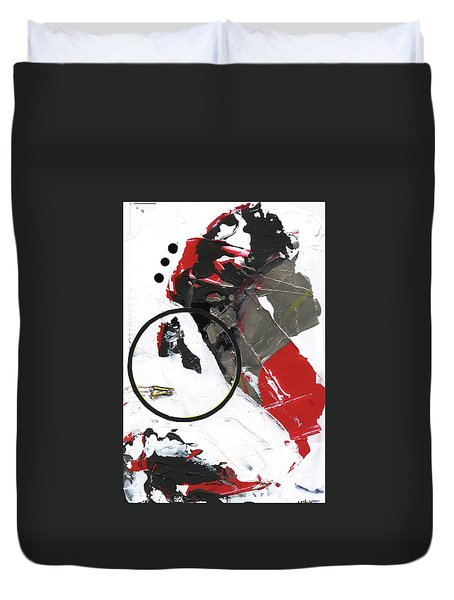 Duvet Cover featuring the painting Three Color Palette by Michal Mitak Mahgerefteh