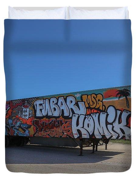 18 Wheeler Art Duvet Cover