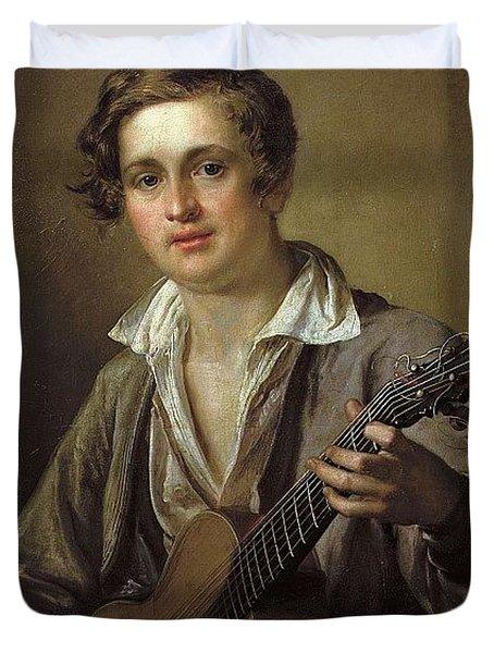 1823   8364  Vasily Tropinin Duvet Cover