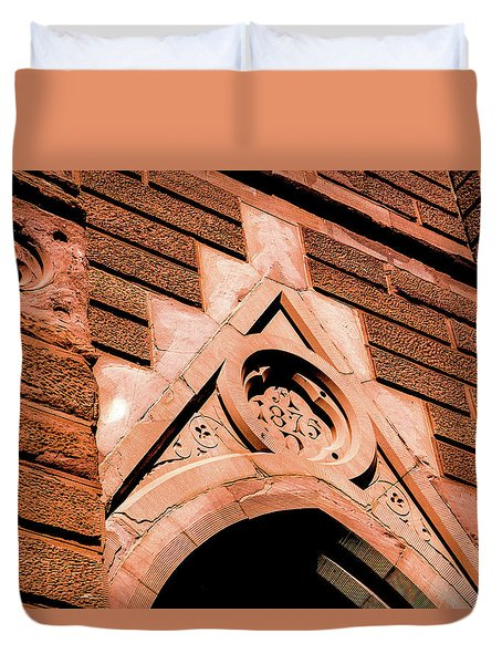 Duvet Cover featuring the photograph 1875 Church by Onyonet  Photo Studios
