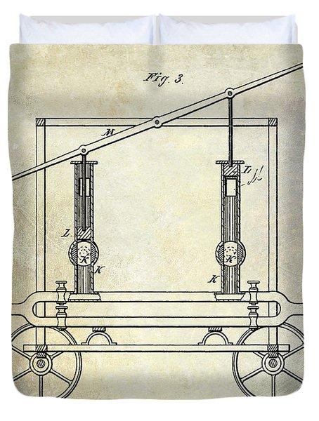 1875 Fire Extinguisher Patent Duvet Cover