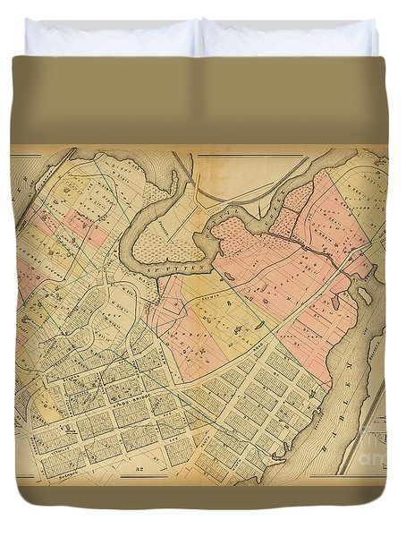 1879 Inwood Map  Duvet Cover