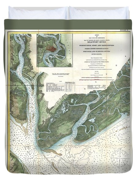 Us Coast Survey Map Of Beaufort South Carolina Photograph By - South us coast map