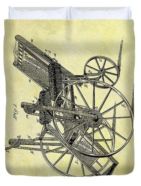 1883 Wheelchair Patent Duvet Cover