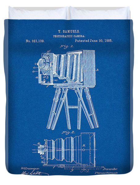 1885 Camera Us Patent Invention Drawing - Blueprint Duvet Cover