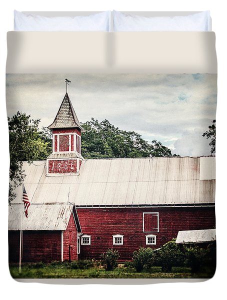 1886 Red Barn Duvet Cover by Lisa Russo