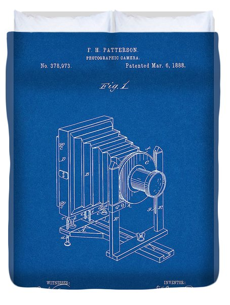 1888 Camera Us Patent Invention Drawing - Blueprint Duvet Cover
