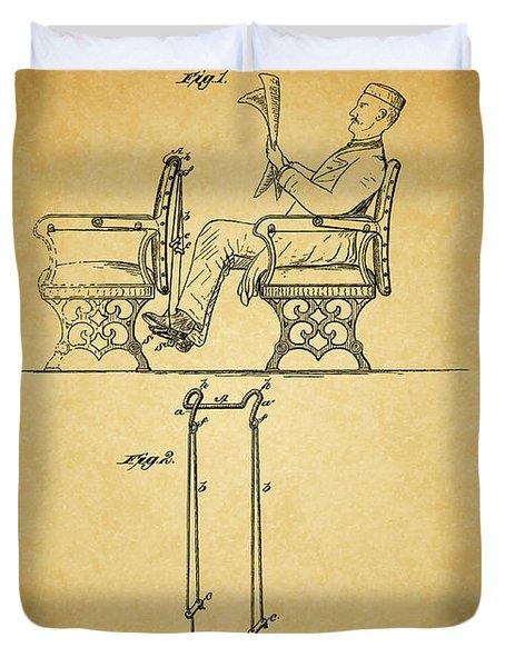 1889 Foot Rest Patent Duvet Cover