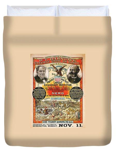 1890 - Circus Poster Duvet Cover
