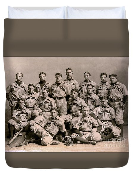 1896 Michigan Baseball Team Duvet Cover