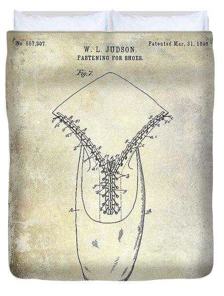 1896 Shoe Patent  Duvet Cover by Jon Neidert