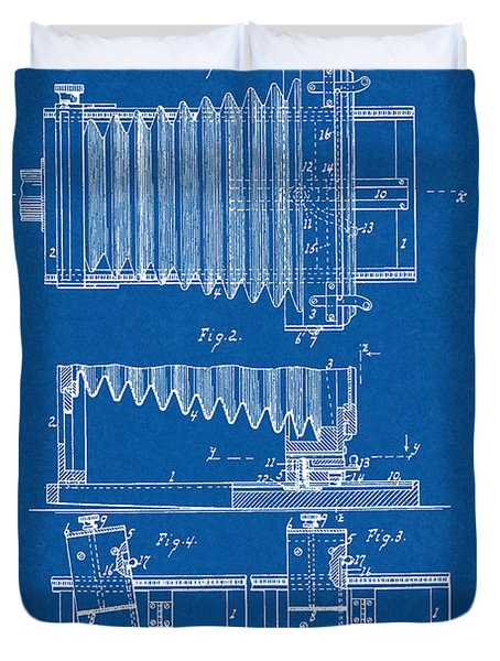 1897 Camera Us Patent Invention Drawing - Blueprint Duvet Cover