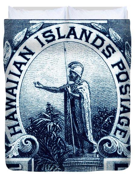 1899 Statue Of Kamehameha Stamp Duvet Cover