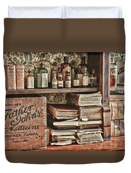 18th Century Pharmacy Duvet Cover