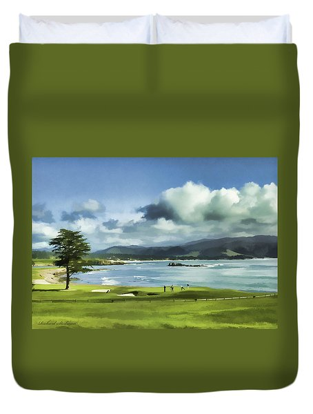 18th Hole Pebble Beach 2 Duvet Cover