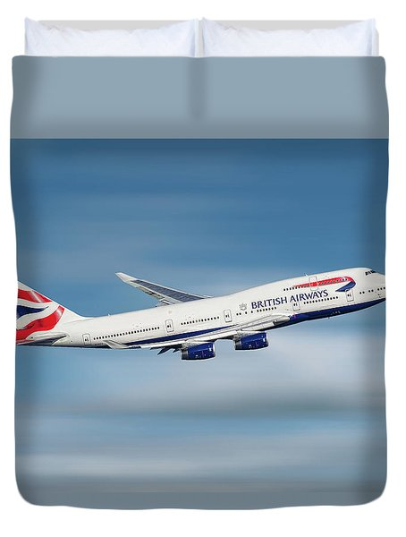 British Airways Boeing 747-436 Duvet Cover