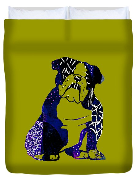 English Bulldog Collection Duvet Cover by Marvin Blaine