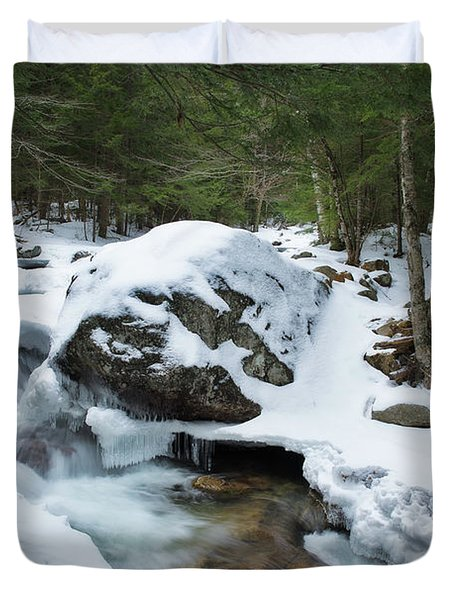 19 Mile Brook In Winter Duvet Cover