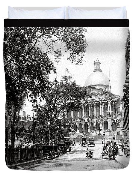 1900 Summer In Boston Massachusetts Duvet Cover