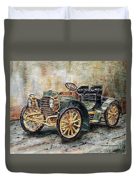 1901 Mercedes Benz Duvet Cover