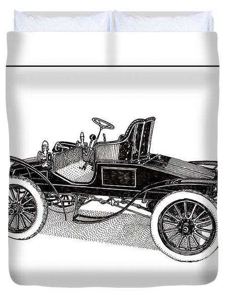 1903 Packard Duvet Cover by Jack Pumphrey