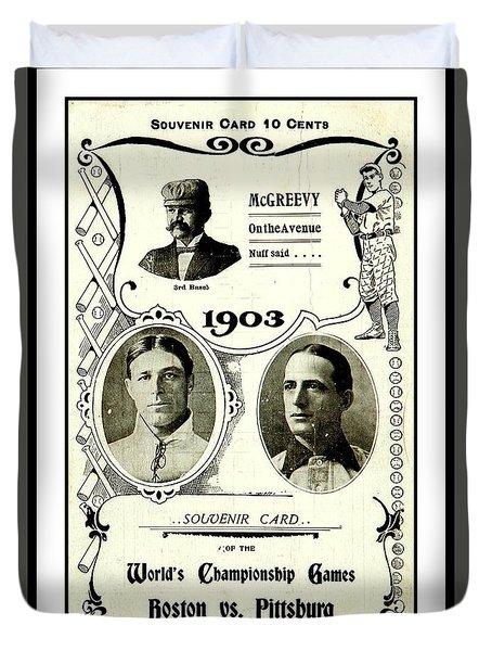 1903 World Series Poster Duvet Cover