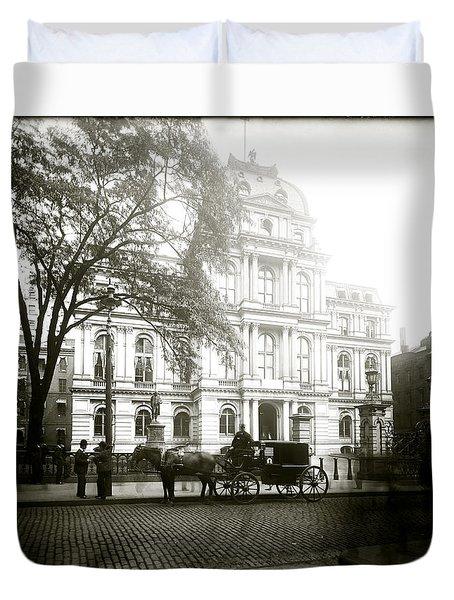 1905 Boston City Hall Duvet Cover