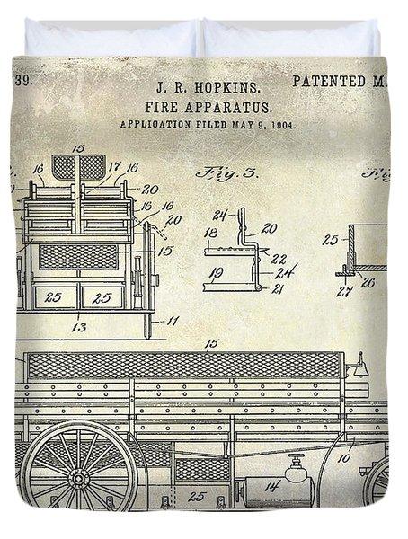 1905 Fire Apparatus Duvet Cover
