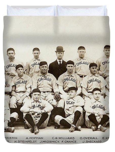 1906 Chicago Cubs Duvet Cover