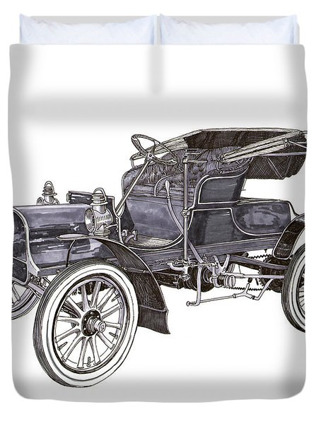1906 Knox Model F 3 Surry Duvet Cover by Jack Pumphrey