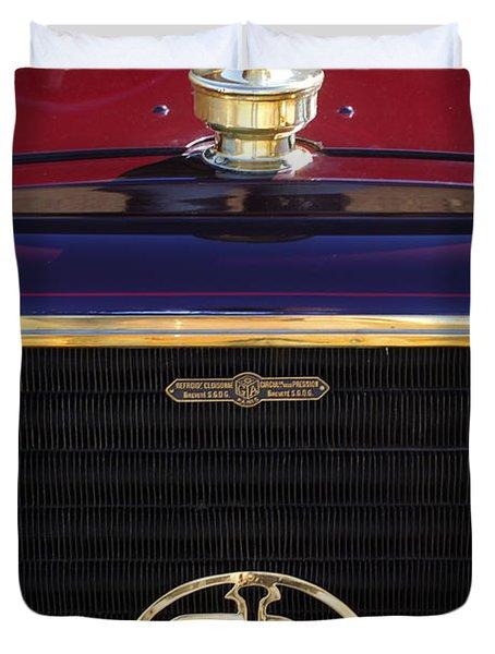 1907 Panhard Et Levassor Hood Ornament 2 Duvet Cover by Jill Reger