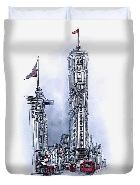 1908 Times Square,ny Duvet Cover