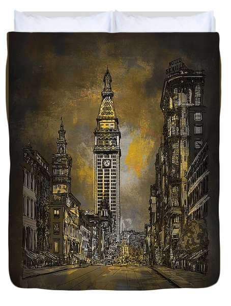 1910y Madison Avenue Ny. Duvet Cover